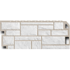Фасадная панель FineBer Камень  Мелованный белый (470*1137мм)
