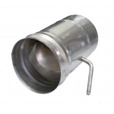 Шибер поворотный (нерж. сталь 0,8мм) ф115