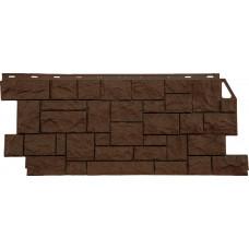 Фасадная панель FineBer Камень Дикий Коричневый (463*1117мм)