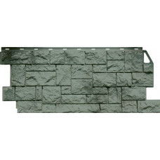 Фасадная панель FineBer Камень Дикий Серо-Зеленый (463*1117мм)