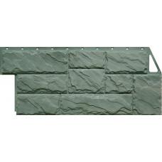 Фасадная панель FineBer Камень Крупный Серо-Зеленый (452*1080мм)