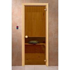 """Дверь DoorWood стекло Бронза Матовая """"Банька"""" 190*70"""
