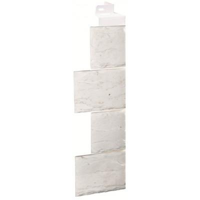 Угол наружный Камень-мелованный белый (115*115мм)