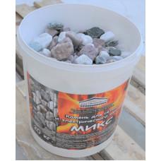 """Камень для сауны """"МИКС"""" 20 кг ведро (кварц, мал.кварц,жадеит)"""