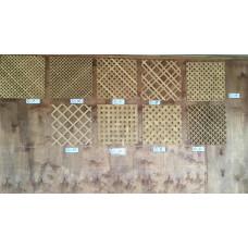 Решетка ДУБ(вафля мелкая)(12*12)5мм 800*2000 мД-12