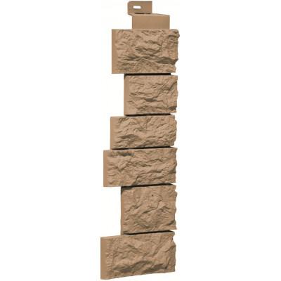 Угол наружный Камень дикий-теракотовый (143 x 485 мм)