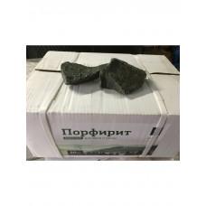 Камни для бани Порфирит в коробке колотый Карелия 20 кг.