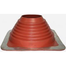 Уплотнитель кровельный №7 прямой силикон 157-280 мм красный