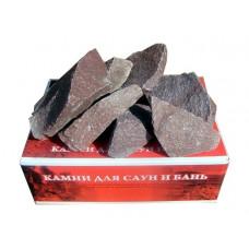 "Камни для бани ""Малиновый кварцит""  20кг (коробка)"