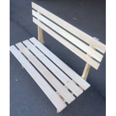 Скамейка со спинкой 400*1,3 м липа-осина  2275