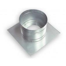 Потолочно-проходной узел (оцинк) под трубу d 133 мм