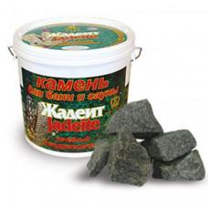 Камни для бани Жадеит колотый средний (ведро) 5кг