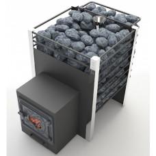 Печь банная Жара-Люкс 20 с закрытой каменкой+варонка (с чугун.дв. со стеклом)
