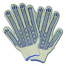 Перчатки ХБ с ПВХ (10 класс) 4-х нитка